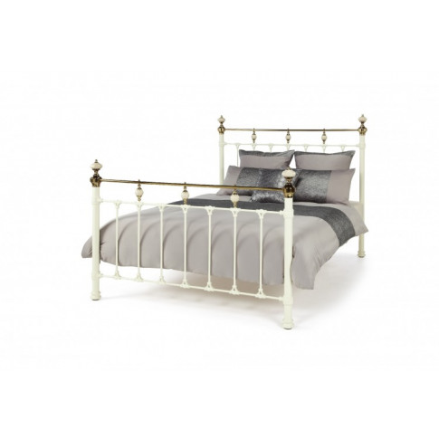 Serene Abigail 4ft6 Double Ivory Metal Bed