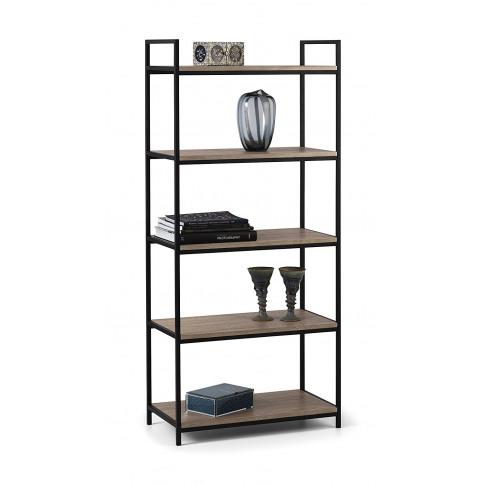 Julian Bowen Tribeca Oak Tall Bookcase