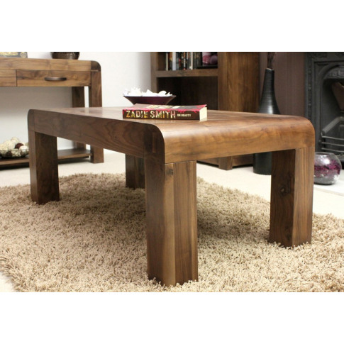 Baumhaus Shiro Walnut Medium Open Hardwood Coffee Table