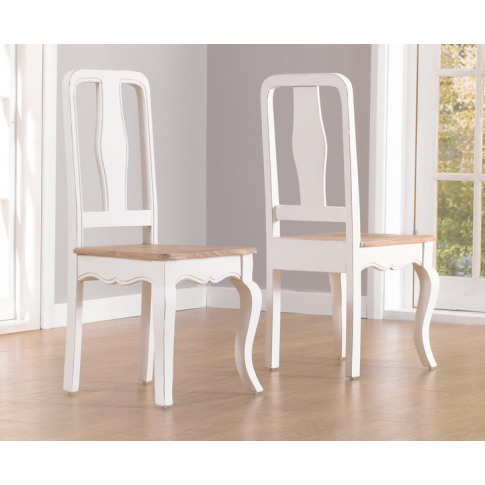Sienna Acacia Painted Ivory Dining Chair