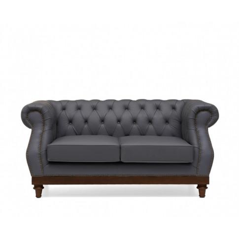 Highgrove 2 Seater Grey Leather Sofa
