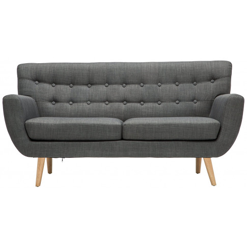 Birlea Loft 3 Seater Grey Fabric Sofa