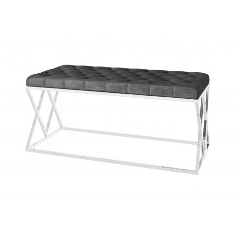 Fairmont Adele Dark Grey Upholstered Bench