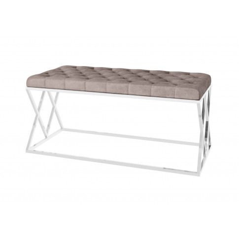 Fairmont Adele Mink Upholstered Bench