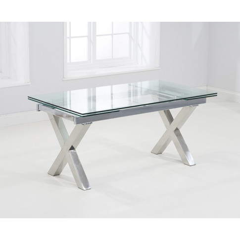 Cilento 160cm Glass Extending Dining Table