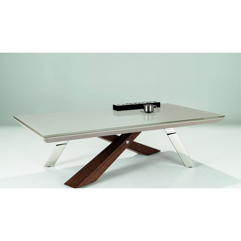 Chelsom Jupiter Rectangular Glass Coffee Table