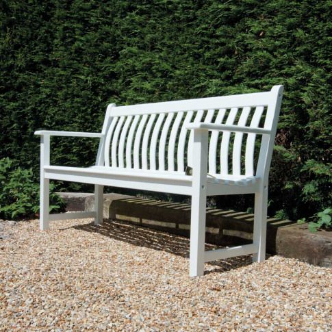 Alexander Rose White Painted 4ft Broadfield Bench