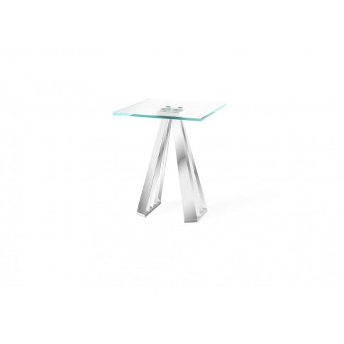 Fairmont Alvaro Glass Side Table