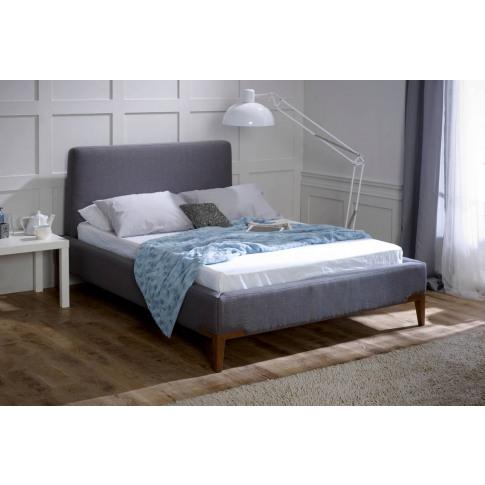 Limelight Andromeda 6ft Super Kingsize Grey Fabric Bed