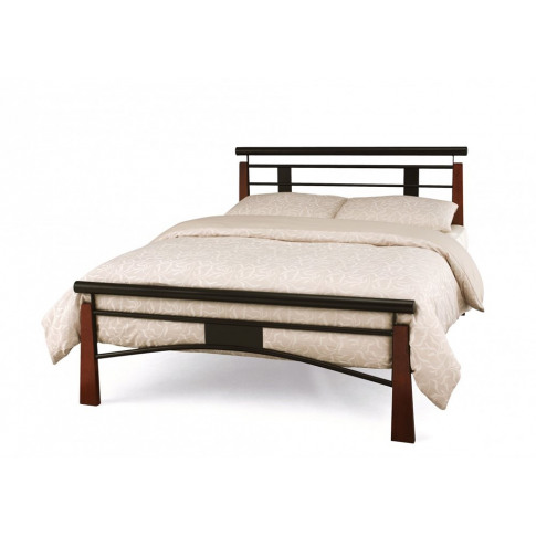 Serene Armstrong 4ft6 Double Black Metal Bed