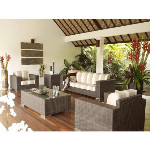 Skyline Brandon 4pc Rattan Sofa Suite Set With Coffe...