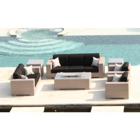 Skyline Brandon 6pc Rattan Sofa Suite Set With Coffe...