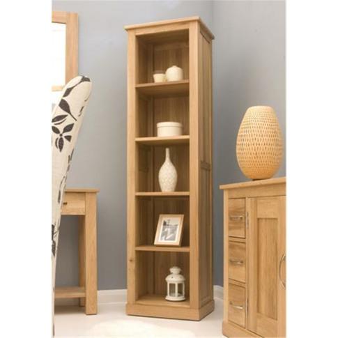 Baumhaus Mobel Oak Narrow Bookcase