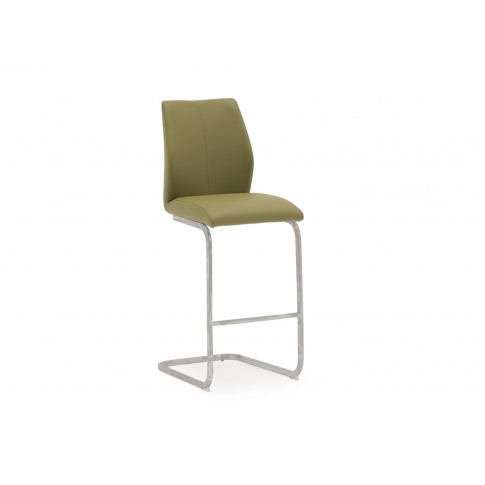 Elis Olive Faux Leather Bar Stool Chair