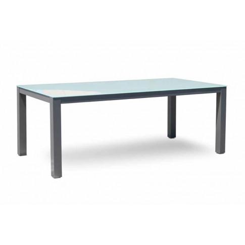 Skyline Ibiza Glass 8 Seater Rectangular Dining Table