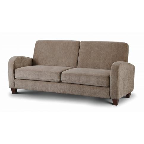 Julian Bowen Vivo Mink Chenille Fabric 3 Seater Sofa