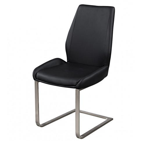 Fairmont Marino Black Leather Dining Chairs Pair