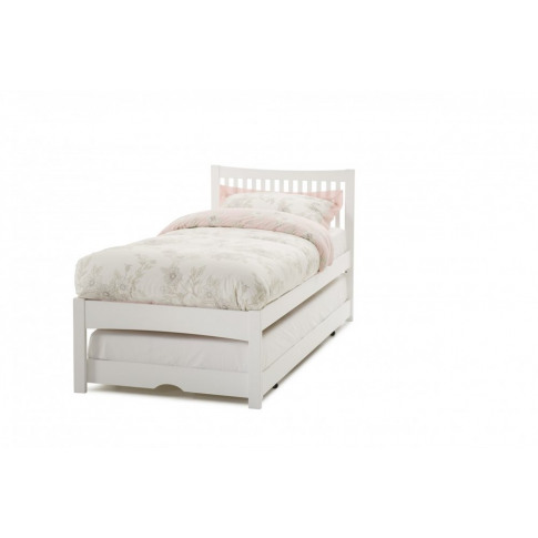 Serene Mya 3ft Single Opal White Wooden Bed & Guest Bed