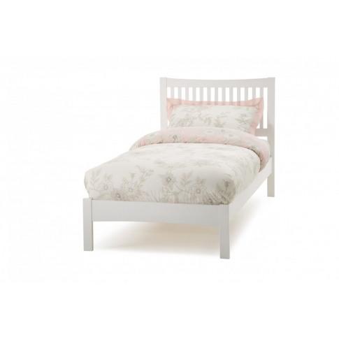 Serene Mya 3ft Single Opal White Bed