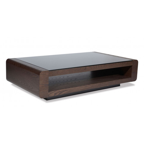 Chelsom Penthouse Dark Elm Rectangular Gloss Coffee Table