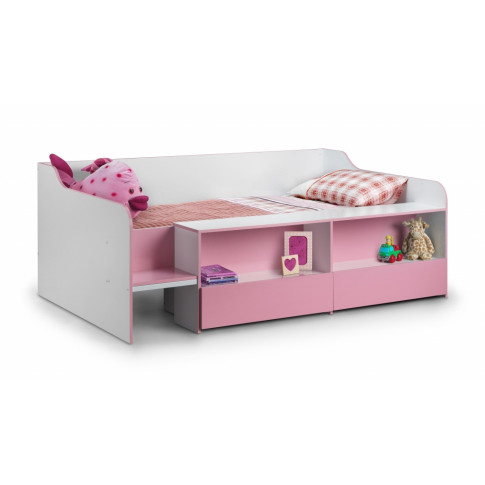 Julian Bowen Stella Low Sleeper Pink 3ft Single Kid Bed