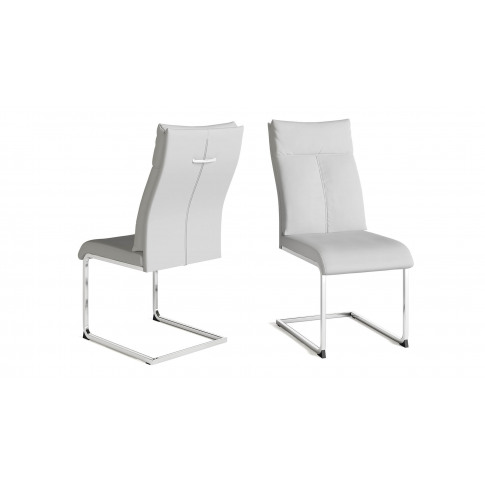 Fairmont Rossi White Leather Dining Chair