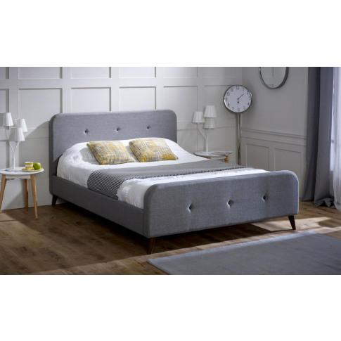 Limelight Tucana 5ft Kingsize Grey Fabric Bed