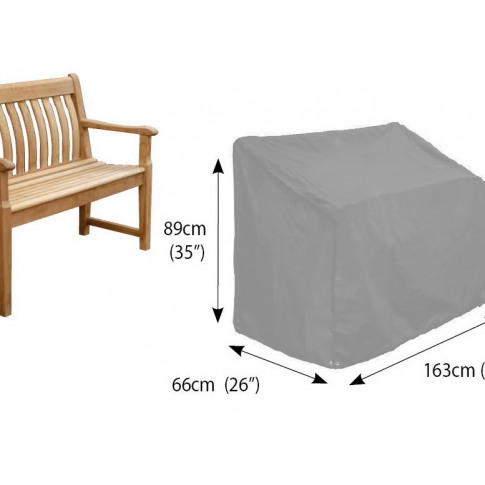 Bosmere Bench 3 Seat Cover In Grey