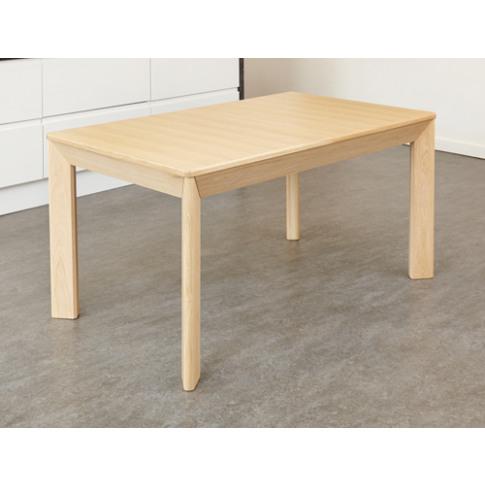 Olten Uno Extending Dining Table In Light Oak Finish