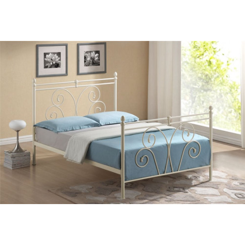 Wallace 3ft Single Ivory Metal Bed