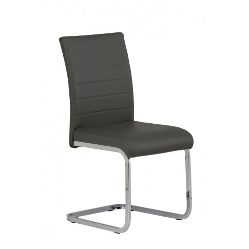Loreto Grey Faux Leather Dining Chair