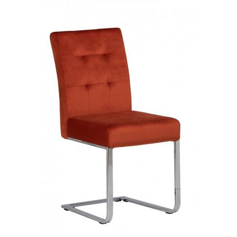 Samara Orange Velvet Dining Chair