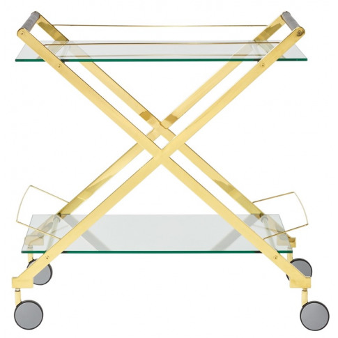 Angelina Glass Top With Gold Frame Drinks Trolley