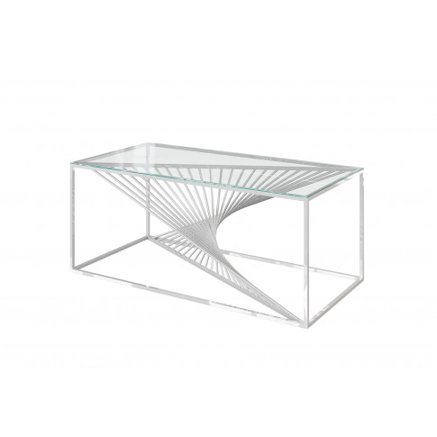 Fairmont Abstract Glass Coffee Table