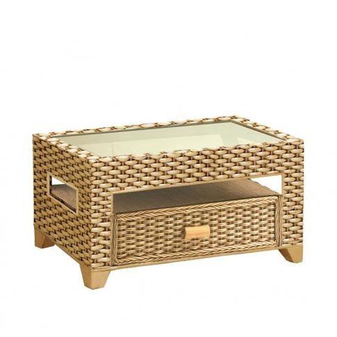 Cane Alba Rectangular Coffee Table
