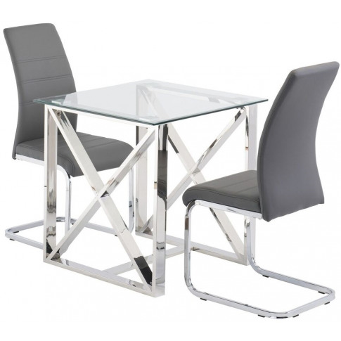 Albany 75cm Square Glass Dining Table