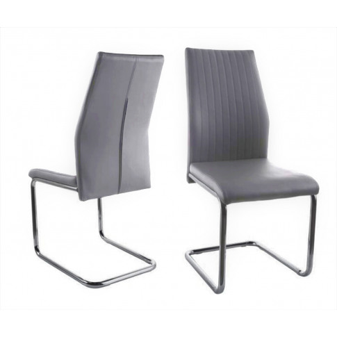 Fairmont Aldo Dark Grey Leather Dining Chair