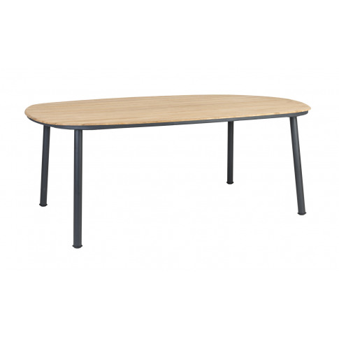 Alexander Rose Cordial 200cm Grey Dining Table With Roble Top