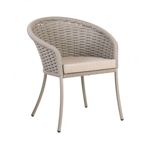 Alexander Rose Cordial Beige Rope Dining Armchair With Cushion