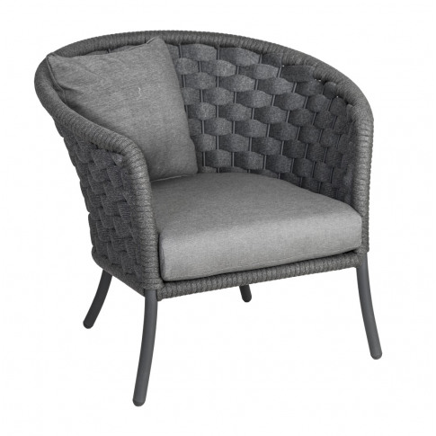 Alexander Rose Cordial Grey Wide Weave Lounge Armcha...