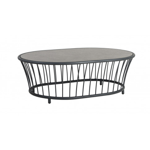 Alexander Rose Cordial Lounge Grey Oval Coffee Table...