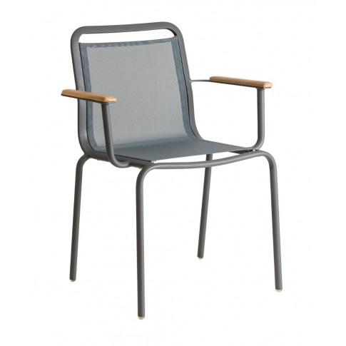 Alexander Rose Fresco Flint Stacking Armchair With G...
