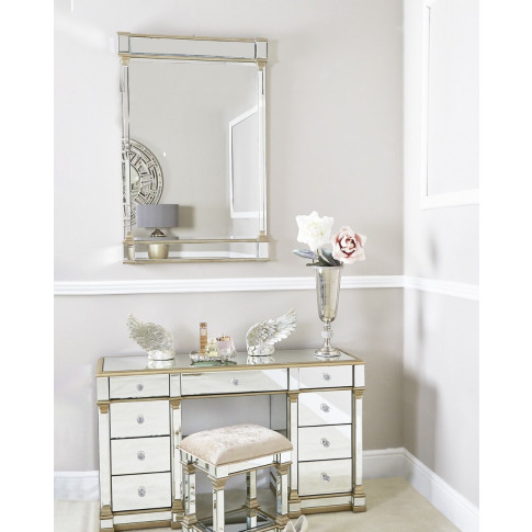 Alpha Champagne Wall Mirror