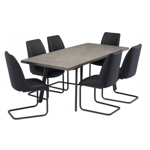 Amalfi Grey 160cm (+40cm) Extending Dining Table