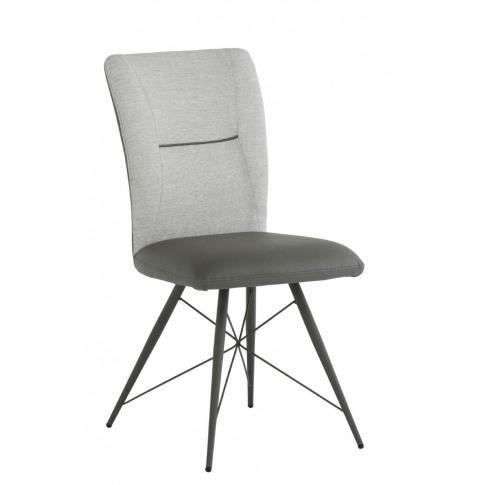 Amalfi Light Grey Fabric/Pu Leather Dining Chair