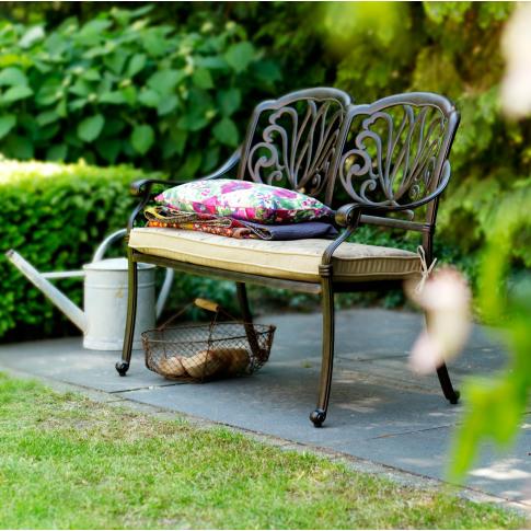 Hartman Amalfi 2 Seat Garden Bench Bronze + FREE Cus...