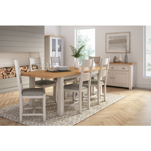 Amberly 165cm Two Tone Oak Dining Table