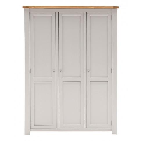 Amberly 3 Door Two Tone Oak Wardrobe
