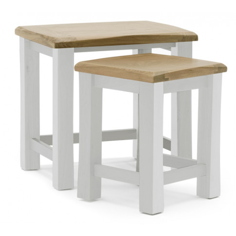 Amberly Two Tone Oak Nest Of Tables