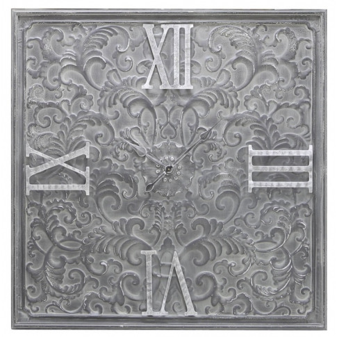Antique Grey Tracery Metal Wall Clock